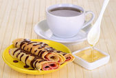 Panquecas com chocolate — Fotografia Stock