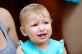 Small baby crying — Stock Photo