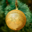 Christmas ornaments on Christmas tree — Stock Photo #37821791