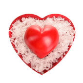 Two decorative red heart — Stock Photo