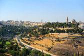 Paisaje de la ciudad vieja de jerusalén — Foto de Stock
