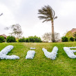 Sign on the lawn — Stockfoto