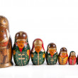 Antique matrioshka dolls — Stock Photo