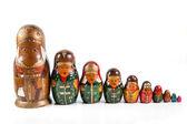 Antique matrioshka dolls — Stock Photo