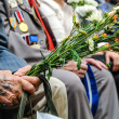Stock Photo: World War II Veterans at celebration of 9th may