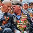 World War II Veterans at the celebration of 9th may - Stock Photo