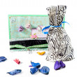 Stock Photo: Decorated Birthday gift set