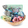 Stock Photo: Gift wicker basket