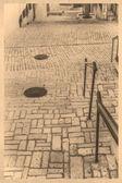 石畳の通り — ストック写真