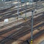 Railroad track points — Stock Photo