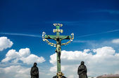 Sculpture on Charles bridge — Stock Photo