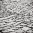 Cobblestoned road — Stock Photo