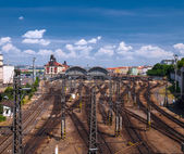 View on railway station — Stock Photo