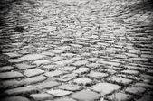Cobblestoned road — Stock Photo