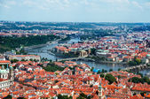 Landscape of Prague, aerial view — Stock Photo