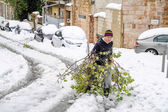Snow in Jerusalem — Stock Photo