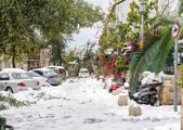 Jerusalem in snow — Stock Photo