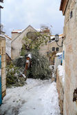 Schnee in jerusalem — Stockfoto