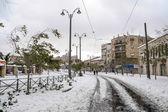 Railways of Jerusalem tram — Stock Photo