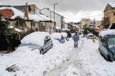 Jerusalem in snow — Stock Photo