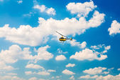 Helicopter in the sky — Stock Photo