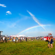 Rainbow in Mighty Sounds Festival — Stock Photo