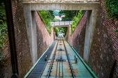 Moving funicular — Stockfoto