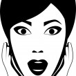 Delighted woman — Imagen vectorial