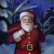 Santa Claus card — Stock Photo