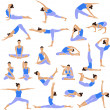 Yoga set icons. — Vector de stock  #35478215