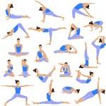 conjunto de yoga ícones — Vetorial Stock