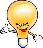 Smiley bulb electric — Stock Vector