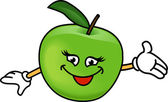 Happy apple — Cтоковый вектор