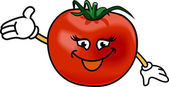 Happy tomato — Stock Vector