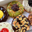 Set of donuts in box — Stock Photo #40261851