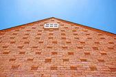 White window on the brick building — Stock Photo