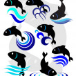 Stock Vector: Vector illustration of fish