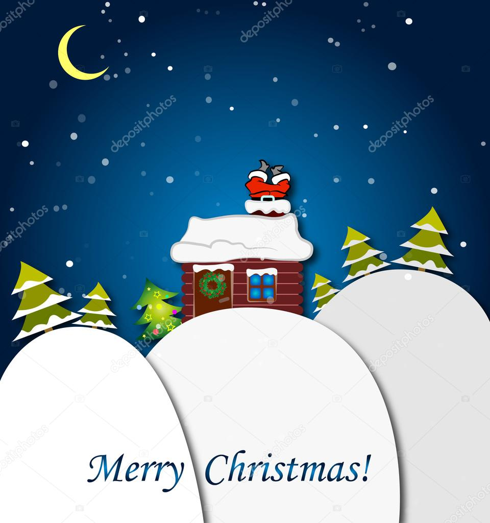 Greeting Christmas card, humor — Stock Vector #15691717