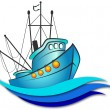 Stock Vector: Fishing boat