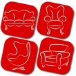 Furniture vector elements — Stock Vector #18115963