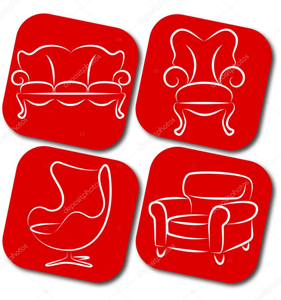 Furniture Vector Elements Stock Vector John1279 18115963