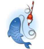 Design for fishing — Stock Vector