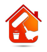 Painting houses, business design — Stock Vector