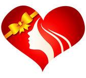 Heart girl — Stock Vector