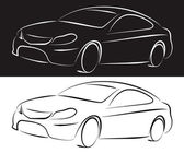 Silhouette cars — Stock Vector