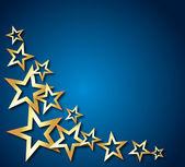 Goldenen sternen — Stockvektor