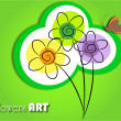 Stock Vector: Flowers art
