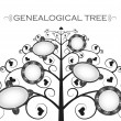 Genealogical tree — Stock Vector