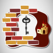 Key to castle — Stock Vector