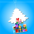 Christmas tree with gifts — Stock Vector